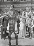Quo Vadis Gladiator Taunting Scene Excerpt from Film in Black and White