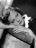 Sylvia Sidney Lying in a Black and White Blouse