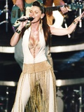 Shania Twain Portrait in Sexy White Outfit