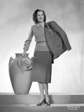 Rosalind Russell Carrying Coat Black and White