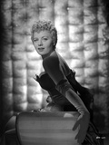 Shelley Winters Portrait in Black Strapless Dress and Gloves