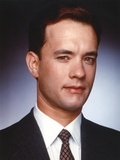 Tom Hanks Close Up Portrait in Black Coat