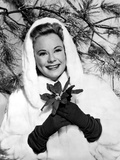 Sonja Henie on a Winter Attire With Coat