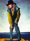 Tanya Tucker Posed in Yellow Sleeves