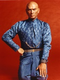 Yul Brynner Posed in Blue Glittery Top