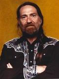 Willie Nelson in Black Shirt Portrait