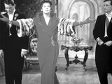 Rosalind Russell in Dress with Arms Wide Open