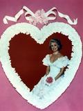 Phyllis Davis in Wedding Gown Heart Frame