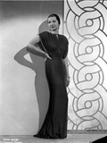Sylvia Sidney wearing an Evening Gown and Hand on Waist