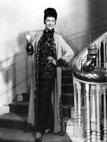 Rosalind Russell Going Down the Stair Case and Holding a Cigarette