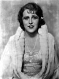 Ruth Roland in White Fur Coat Portrait