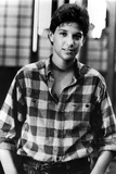 Ralph Macchio in checkered Polo With Hands in Pocket