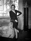 Talullah Bankhead on a Dress sitting on a Couch