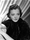 Sylvia Sidney in a Black Blouse with Ring and Bracelet