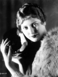 Thelma Todd Portrait in Feather Coat
