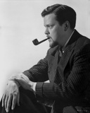 Orson Welles Pipe on Mouth in Classic