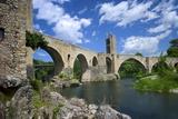 The Romanesque Bridge  Besalu  Catalonia  Spain