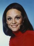 Valerie Harper Close Up Portrait in Red Turtle Neck Shirt