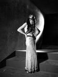 Zita Johann Posed in Sexy Dress with Hands on Waist