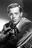 Dick Haymes Portrait in Black Suit With White Background
