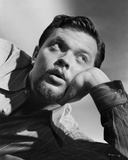 Orson Welles Lying in Black and White