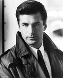 Alec Baldwin Looking at the Camera wearing a Black Jacket Portrait in Black and White