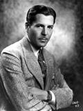 Warner Baxter Posed in Suit