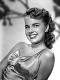 Terry Moore on a Silk Dress and smiling Portrait