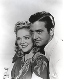 Alice Faye on an Embroidered Top and posed with Man
