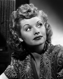 Lucille Ball Looking Up in Blouse Portrait