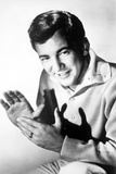 Bobby Darin Clapping wearing Polo in Black and White Portrait