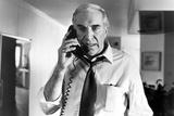 Martin Landau Answering Telephone in Formal Polo
