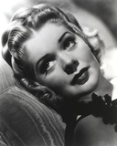 Alice Faye Lying on the Bed and Looking Away