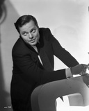 Orson Welles Seated smiling in Classic