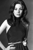 Barbara Parkins Pose wearing in Black Top