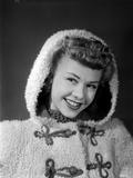 Vera Ellen on a Furry Coat Portrait