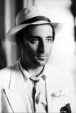 Andy Garcia Posed in White Suit With Hat