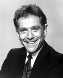 George Segal in Black Suit With Black and White Background