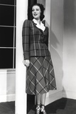 Loretta Young Lady Checkered Suits