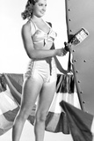 Esther Williams smiling in Black and White