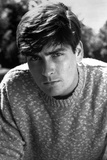 Charlie Sheen in Sweater Close Up Portrait