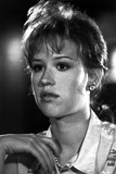 Molly Ringwald Close Up Portrait in Black and White