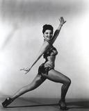 Debra Paget Dancing in Glossy Lingerie