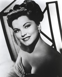 Debra Paget Posed in Black and White wearing Earrings