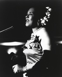 Billie Holiday in Gown singing