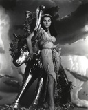 Debra Paget in Gown Black and White