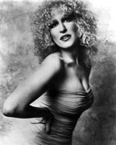 Bette Midler Portrait with Hands on the Waist Leaning Forward in Tube Dress