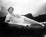 Eleanor Powell Lying on a Furry Cloth