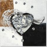 Silvery Wings of Love Peinture réalisée à la main