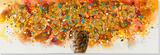Abstrait - fleurs Peinture réalisée à la main